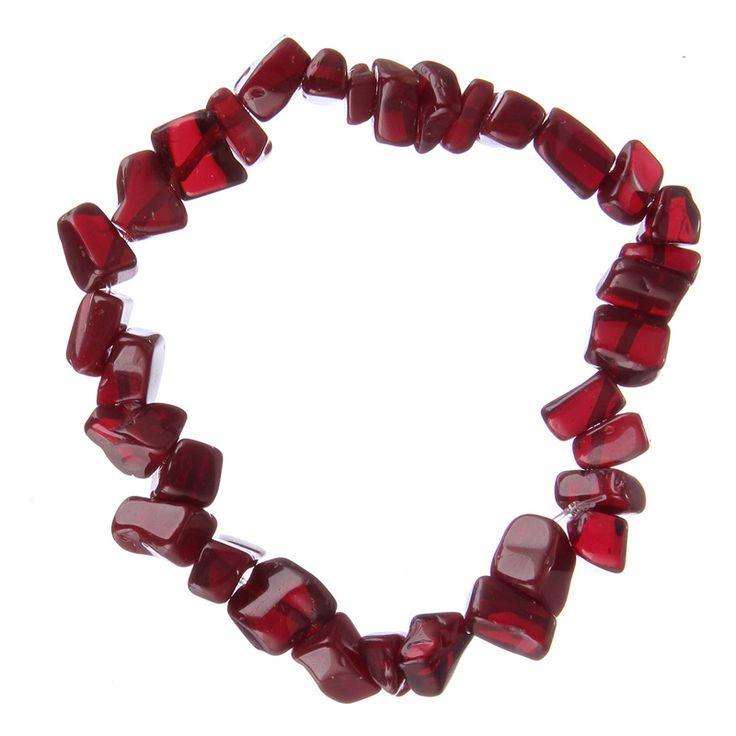 Bracelet Printemps/été -#Perles Pierre Naturelle pour femmes-couleur #rouge