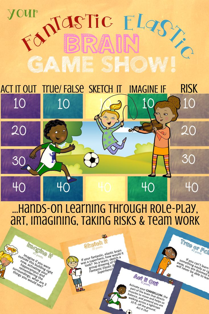 Your Fantastic Elastic Brain Lesson and  Game Show.  Fun activities to learn about growth mindset and brain plasticity.