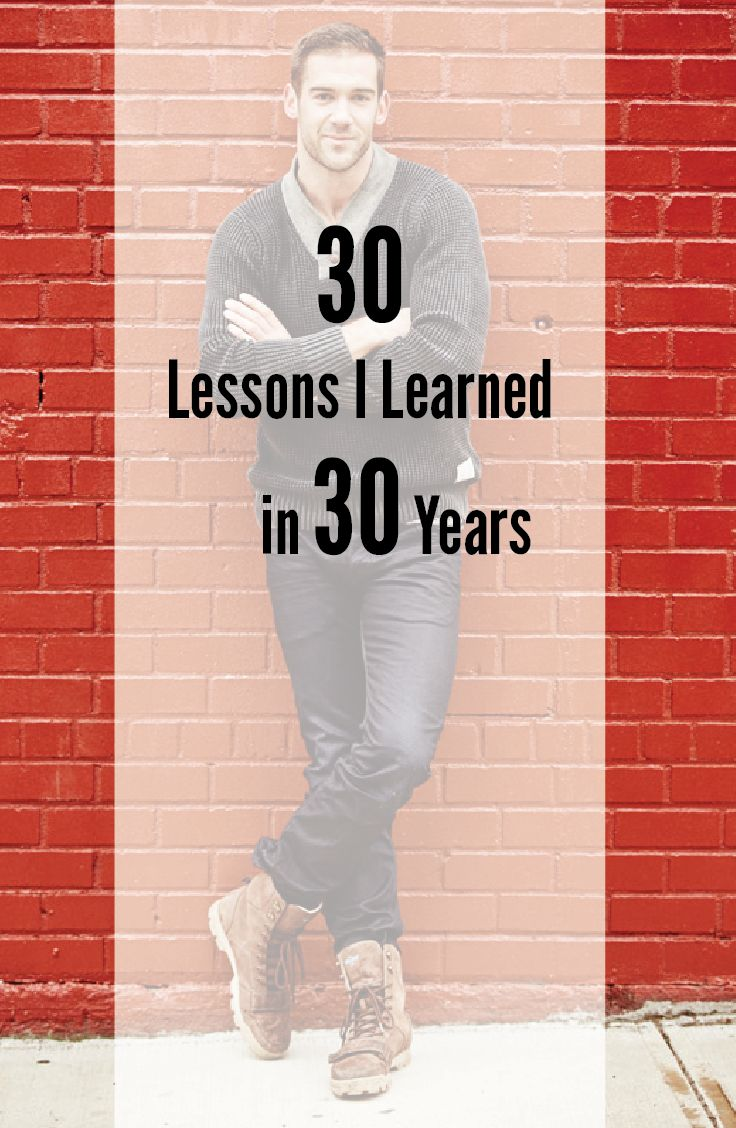 30 Lessons I Learned in 30 Years