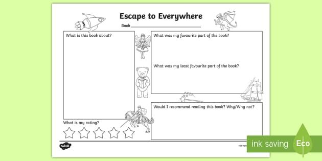 'Escape to everywhere' book review template
