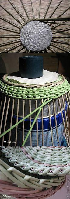 Плетение крышки к шкатулке из газетных трубочек. - Плетение из газетных трубочек - Поделки из бумаги - Каталог статей - Рукодел.TV