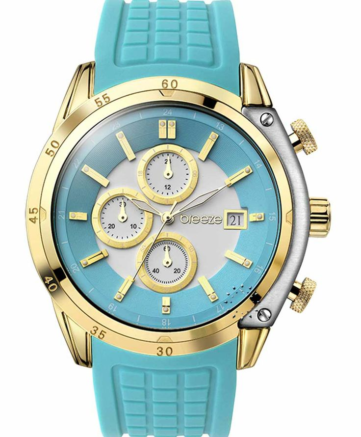 BREEZE Stylish Tech Chrono Light Blue Rubber Strap Μοντέλο: 110151.15 Τιμή: 170€ http://www.oroloi.gr/product_info.php?products_id=38073