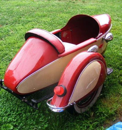 Vintage Motorcycle And Sidecar For Sale
