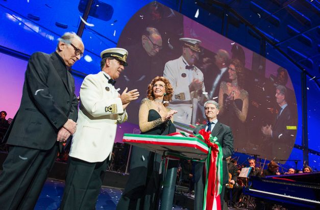 Bautismo del barco #MSCPreziosa con Sophia Loren, madrina de la flota de MSC Cruceros.