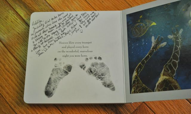 "Love this idea. ""The Night You Were Born"" in the hospital to have visitors sign as they meet the new baby."