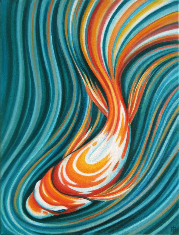 Swirling Koi -- 16 x 12 by shmeeden.deviantart.com on @deviantART