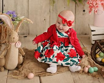Baby Girl Headband, Baby Headband, Newborn Headband, Baby Bow Headband, Baby Girl Bow, Red Baby Bow, Baby Hair Bow. Red Schoolgirl Bow  #Oliveandtwine #Olive&Twine #Oliventwine #Olivetwine  http://www.etsy.com/shop/oliventwine