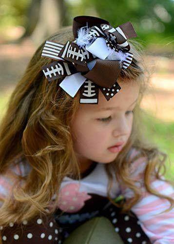 Sweet as Sugar Football Hair Bow