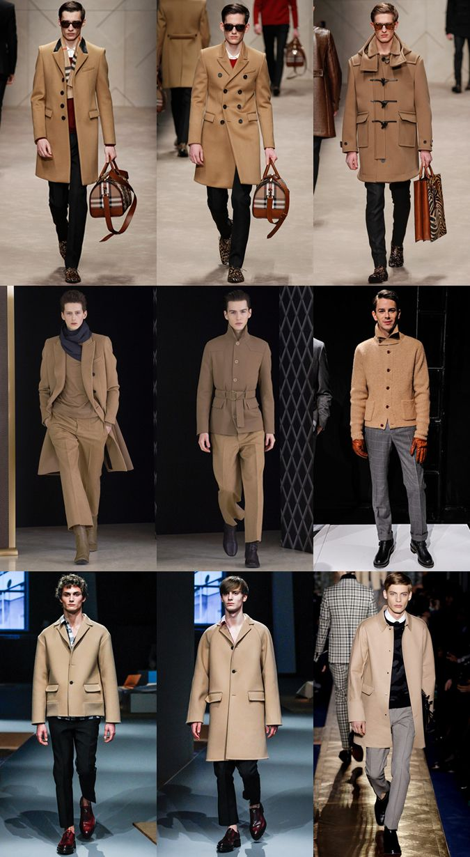 Camel On AW13 Runways At Burberry Prorsum, Balenciaga and Prada