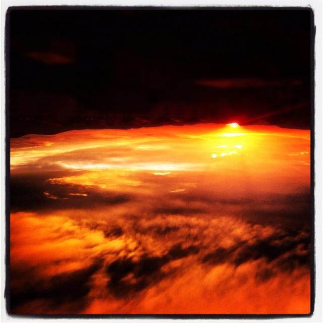 upside down sunset