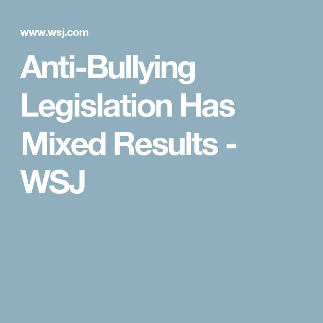 anti bullying laws argument Argumentative essay: solution for bullying bullying is a big problem for children and young people that go through it it knocks their self-esteem and makes them lose their confidence, and can make them dread going to school each day.