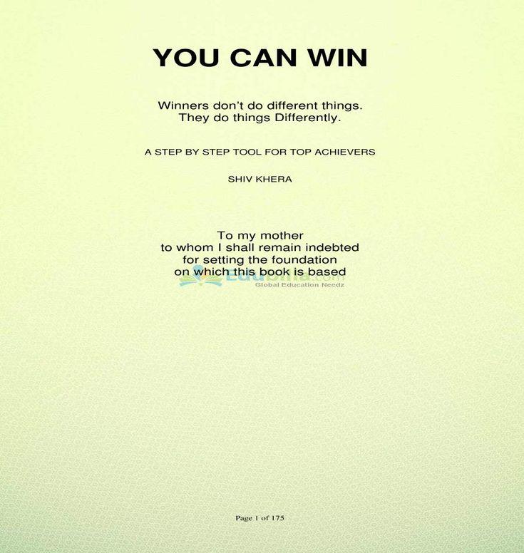 #Shiv khera's #you_can_win motivational books @edu @edubillaportal
