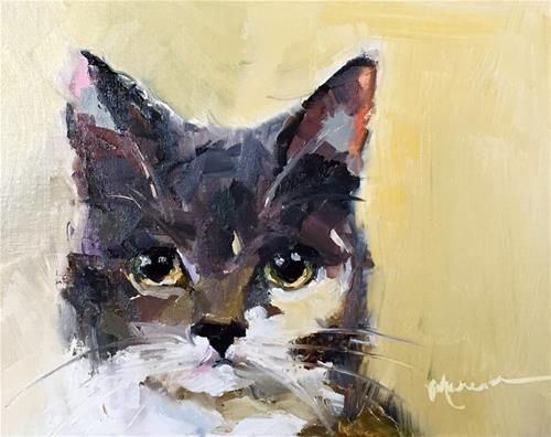 "Daily Paintworks - ""Cat Woman"" - Original Fine Art for Sale - © Marcia Hodges"