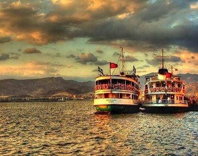 Ferry Boats in Izmir.
