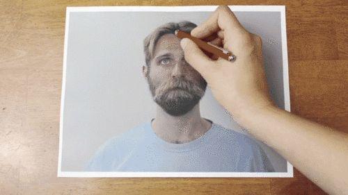Clever Stop-Motion Video de un hombre que consigue un corte de pelo inversa - Mi Met Moderno