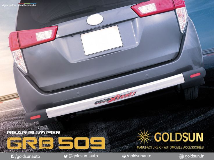 We, Goldsun provide Automobile Accessories #front_nudge_guard, #rear_bumper, #side_steps & #luggage_carrier for Toyota Innova crysta & more #Indian #cars.   Product : Rear Bumper Model : GRB 509  For details, call: +91 93444 49111 Visit your nearest Automobile Accessory store or www.goldsun.in   #goldsun #automobile #accessories #crysta