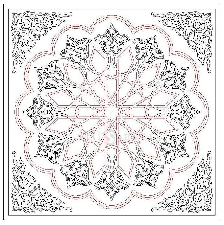 Selçuklu Yıldızı , 12 Rosette , Elhamra , Stilahmet , Osmanlı Desen , Selçuklu Desen