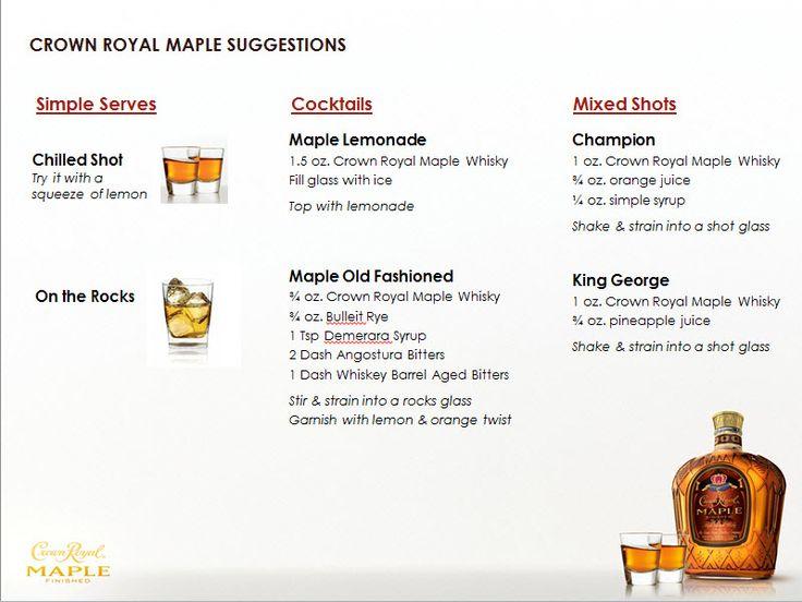 Maple Crown Royal Cake Recipes