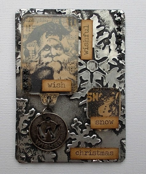 Tracy Evans: Seasonal ATC's http://craftaddicts-tracyevans.blogspot.com/2012/12/seasonal-atcs.html
