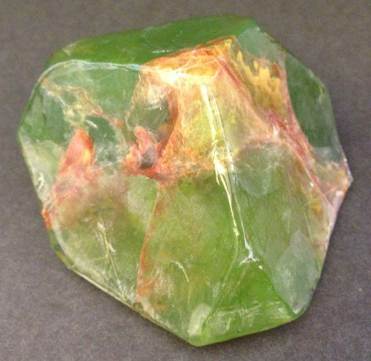 Pink 6 oz Bar Soaprock, Green Garnet, Pure Mineral Gem Glycerin Gift Healthy #PINK