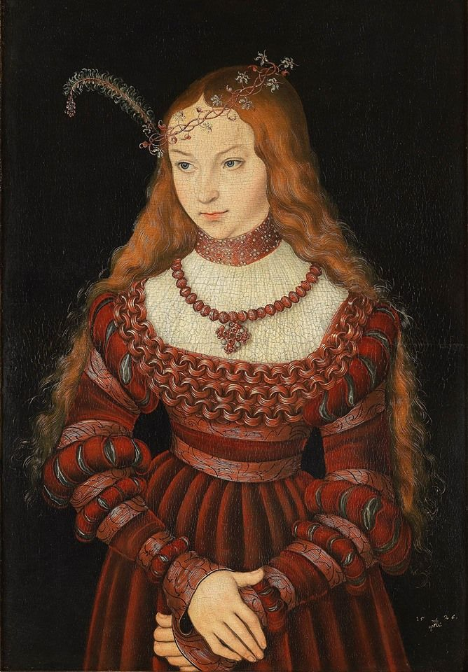 Lucas Cranach the Elder (German, 1472-1553) - Princess Sibylla of Cleve (1526)