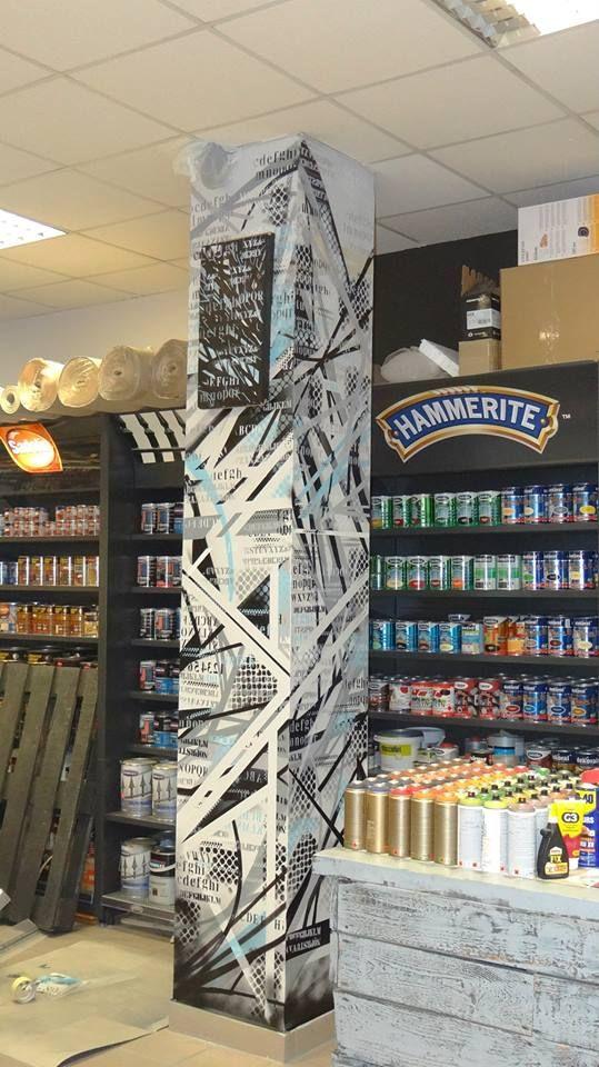 paint shop , interior , wnętrze , styl .post graffiti  freestyle