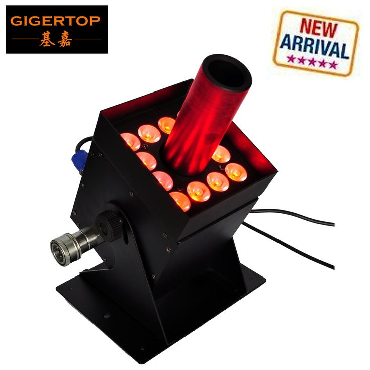 370.00$  Know more  - Gigertop TP-T21S 12x3W Led CO2 Jet Equipment Stage Led Lighting Black Solenoid Valve Barndoor Case 7 DMX Channels 300W Power
