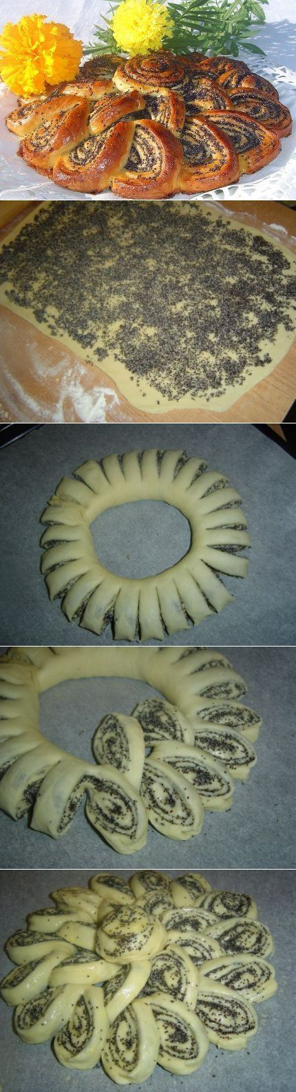Очень эффектный пирог-рулет с маком, да еще и вкусный!