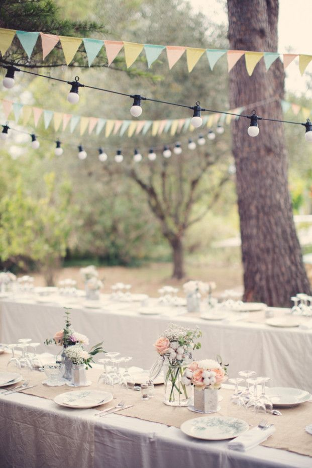 A pretty pastel table setting