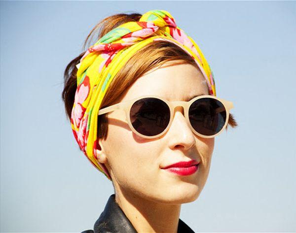 Vintage Retro Sunglasses street style | ... color headband and beige/cream colored translucent round sunglasses