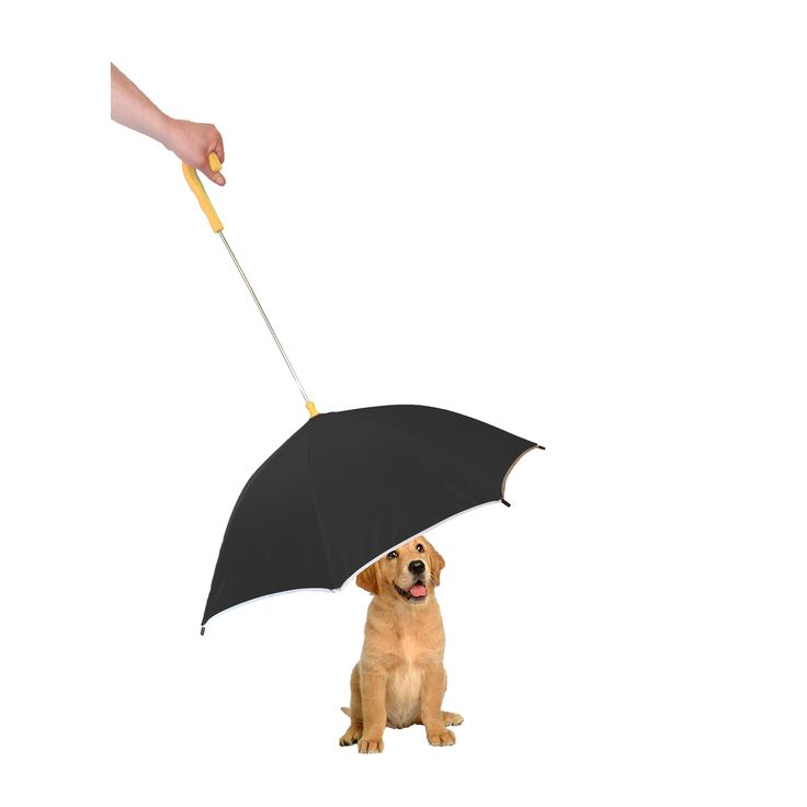 "Pet Life Pour-Protection Reflective Strip Umbrella (Black), Size 33"" x 19"""