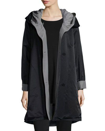 5484346e1be2 Eileen Fisher Reversible Hooded Rain Coat, Plus Size | Products ...