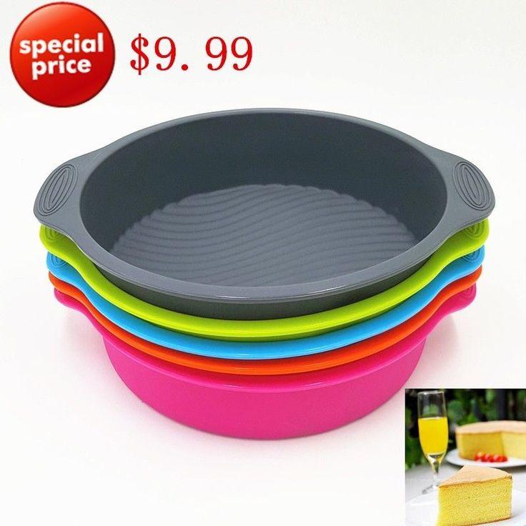 Round Cake Mold Big Round Shape Cake Form Silicone Baking Tools Bakeware Maker  #BigandChina