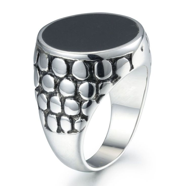 Fashion Party Wear Round Stainless Steel Finger Ring For Men