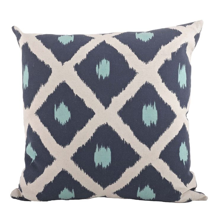 Dress up any room in contemporary style with this decorative pillow. This printed ikat design pillow is perfect for everyday home decor. Pillow inserts included.