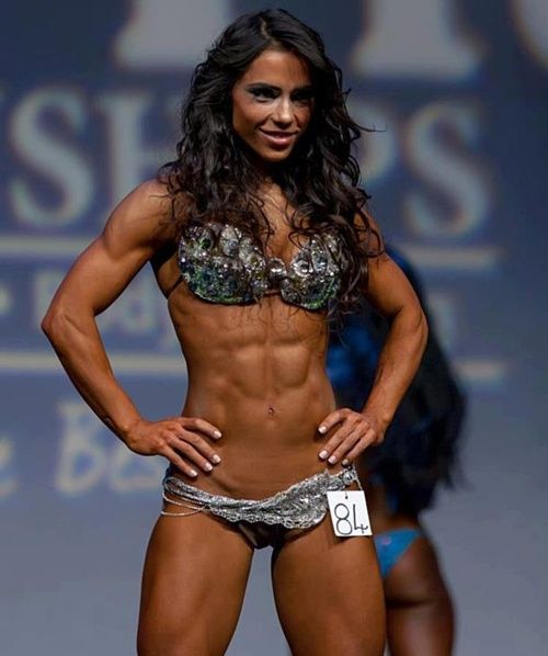 she actually doesn't look disgusting like most body builders that I've seen!