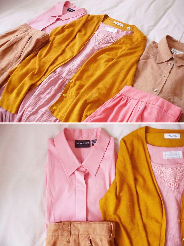 pink & marigold )
