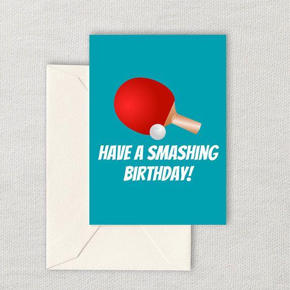 Greeting Card I Love Table Tennis Birthday Card