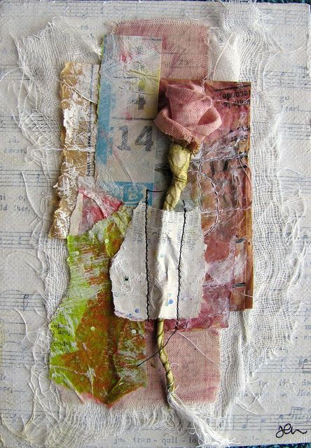 mixed media painty collage