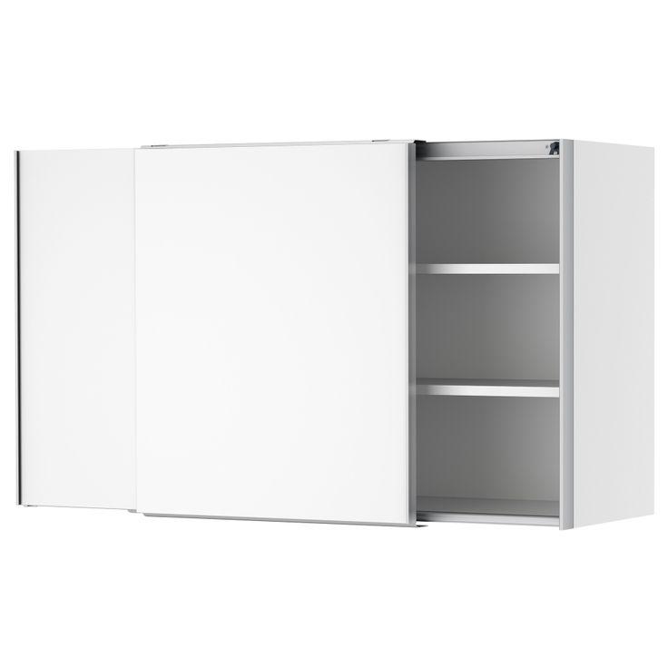 Faktum bovenkast met schuifdeuren h rlig wit 120x70 cm ikea wandkast kleine kamer - Coin bureau ontwerp ...
