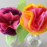 Flores de papel seda / Paper tissue flowers