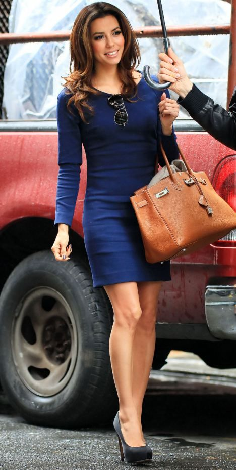 Eva Longoria in a blue dress