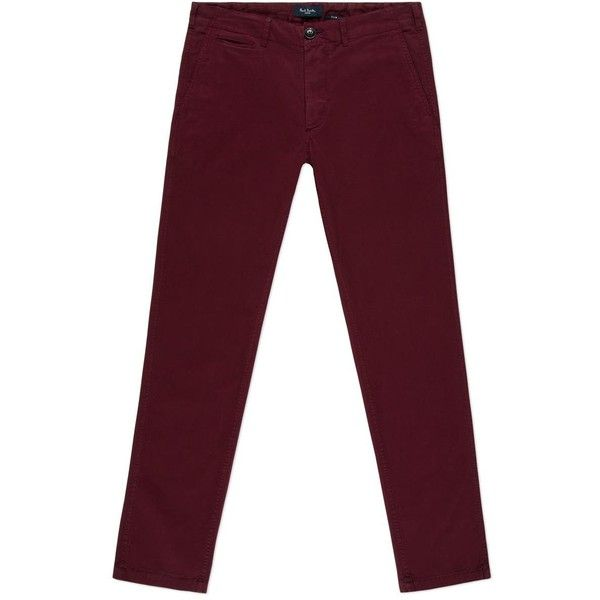 Paul Smith Men's Damson Garment-Dye Stretch-Cotton Chinos ($225) ❤ liked on Polyvore featuring mens, men's clothing, men's pants and men's casual pants