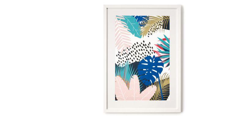 Tropical Leaves, gerahmter Kunstdruck | made.com