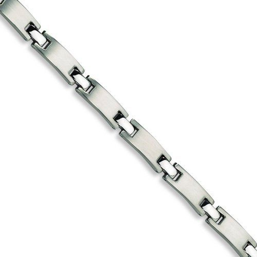 Stainless Steel Brushed and Polished Bracelet. Metal Weight- 30.7g. 8.5in long. Jewelrypot. $38.99. All Genuine Diamonds, Gemstones, Materials, and Precious Metals. 100% Satisfaction Guarantee. Questions? Call 866-923-4446. Fabulous Promotions and Discounts!. Your item will be shipped the same or next weekday!. 30 Day Money Back Guarantee. Save 58%!