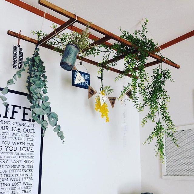 シンプルな室内を素敵空間に演出できる フェイクグリーンのある暮らし