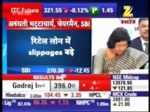SBI Chairman Ms. Arundhati Bhattacharya addresses press after SBI's Q1FY...