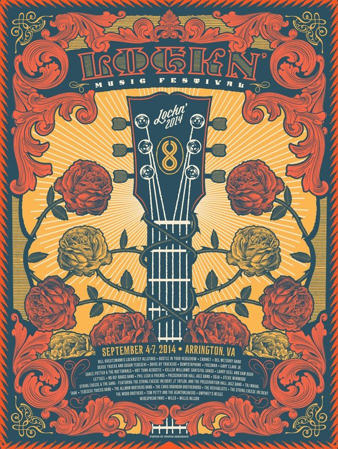 INSIDE THE ROCK POSTER FRAME BLOG: Lockn Music Festival Posters by ...