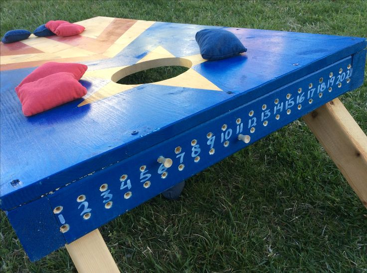 golf tees scoring system for corn hole boards