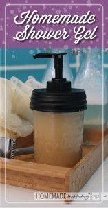 Easy Homemade Shower Gel  www.homemademommy.net